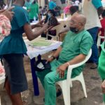 Covid-19 Vaccination flag-off today at Primary Healthr Centre (PHC) Ajilete in Ifako Ijaiye Local Government Area of Lagos State, Nigeria.